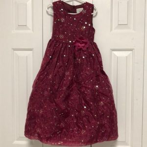 Marmelatta Burgandy Sequin Party Dress Girls Sz 7